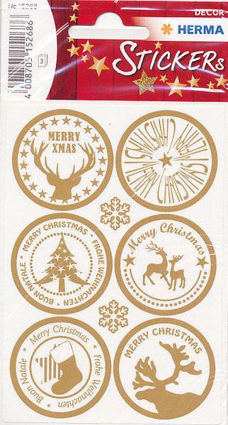 Herma stickers decor kerstmis 3 vel 15268 (Locatie: U186)