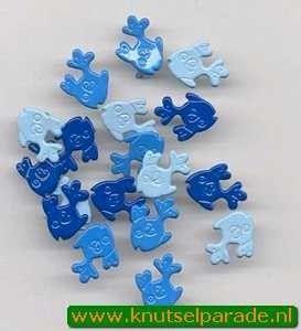 Hobby & Crafting Fun brads vis 18 stuks 12058 5805 (Locatie: 1A )