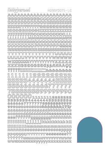 Hobbydots stickervel glanzend alfabet Turquoise STMDLCD (Locatie: H406 )