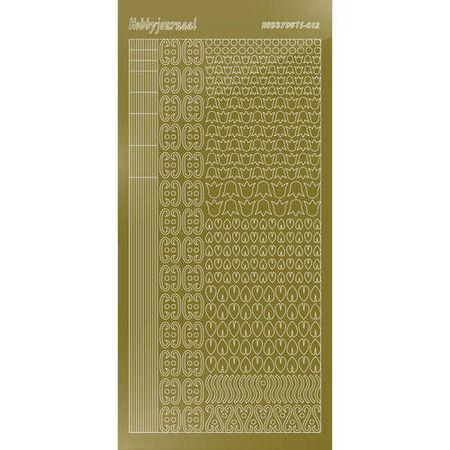 Hobbydots stickervel glanzend goud STDM127 (Locatie: N259 )