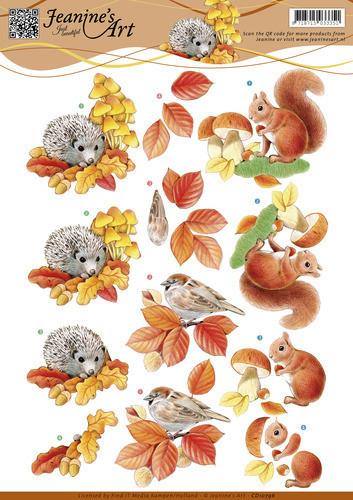 Jeanine's Art knipvel herfst dieren CD10796 (Locatie: 4306)