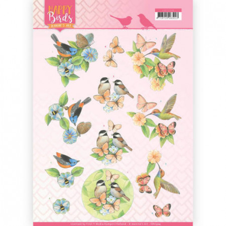 Jeanine's Art knipvel vogels CD11324 (Locatie: 0135)