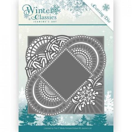 Jeanine's Art snij- en embosmal Winter Classics Mirror Frame JAD10017 (Locatie: M136)