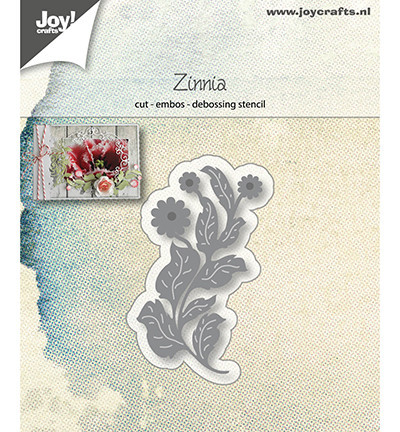 Joy! Crafts snij- embos- en debosmal bloem Zinnia 6002/1228 (Locatie: M019)