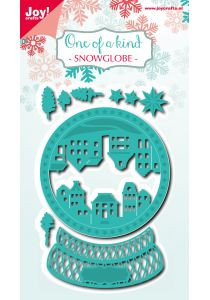 Joy! Crafts snij- en embosmal Snowglobe 6002/0926 (Locatie: k149)