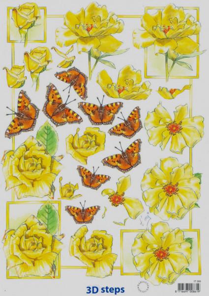 Knipvel bloemen & vlinders IT399 (Locatie: 2221)
