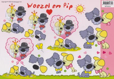 Knipvel Woezel en Pip Liefde WP10023 (Locatie: 2848)