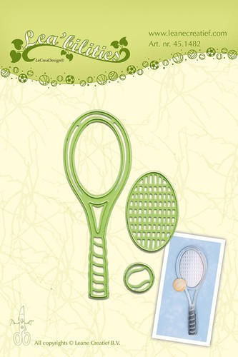 Leane Creatief snij- en embosmal Tennisracket 45.1482 (Locatie: M85)