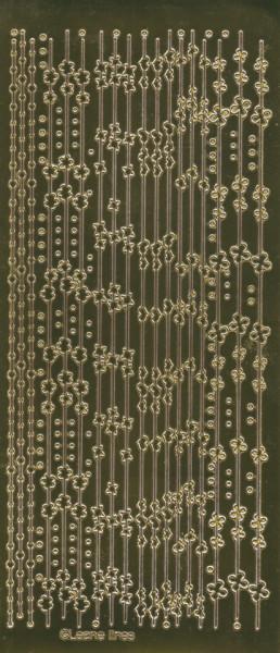Leane stickervel glanzend goud (Locatie: g305)