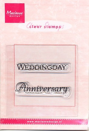 Marianne Design Clear stamp Weddingday/Anniversary CS0886 (Locatie: NN026)