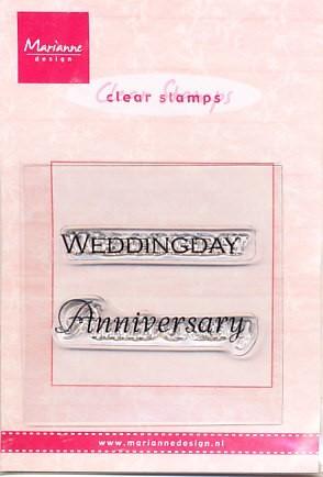 Marianne Design Clear stamp Weddingday/Anniversary CS0886 (Locatie: NN026)