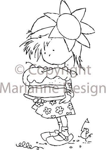 Marianne Design Clear stamps sweet Daisy DDS3306 (Locatie: U365 )
