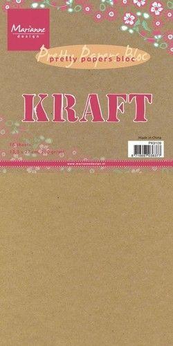 MD Paperbloc Kraft , 16 vel, 15 x 30 cm, PK9114