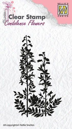 Nellie Snellen Clear stamp Condolence Flower-5 CSCF005 (Locatie: NN302 )