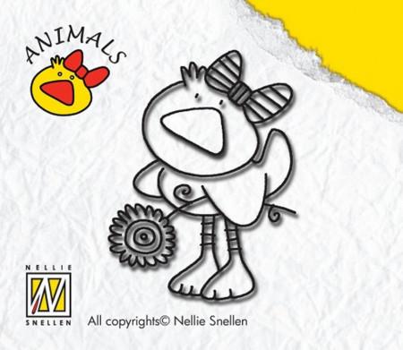 Nellie Snellen Clear Stamp duck-girl ANI002 (Locatie: NN269)