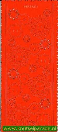 Pop-outs bloemen 2 stuks oranje SPS8811 (Locatie: J281 )