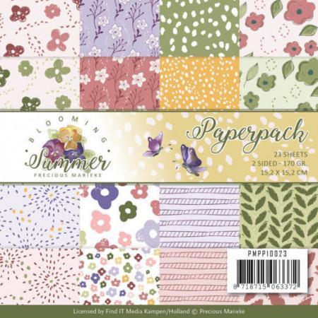 Precious Marieke, Paperpack, 15.2 x 15.2 cm, Blooming Summer, PMPP10023