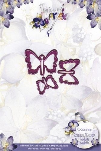 Precious Marieke snij- en embosmal Vlinders PM10003 (Locatie: M68)