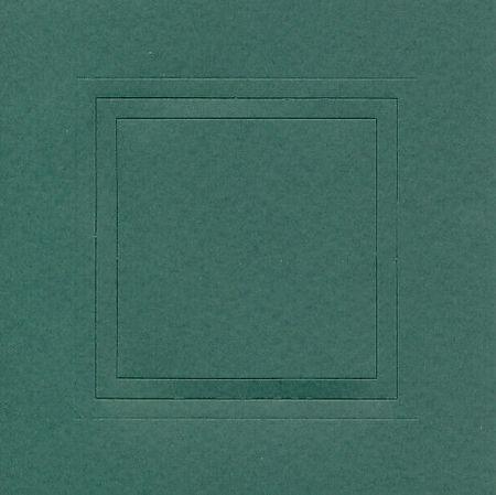 Romak dubbele kaart vierkant met kader groen per stuk K210424 (Locatie: V017 )