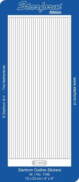 Starform sticker velvet lijnen beige 1149 (Locatie: B350 )