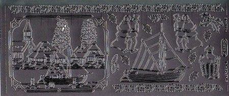 Starform sticker zilver kerst 968 (Locatie: HH154)