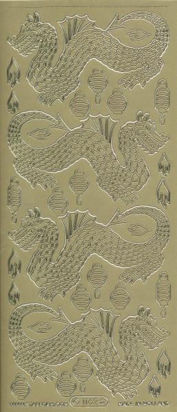 Starform stickervel China goud 1162 (Locatie: u066)