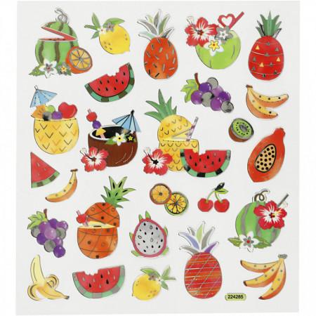 Stickers, vel 15x16,5 cm, fruit, 27187 (Locatie: 5810)