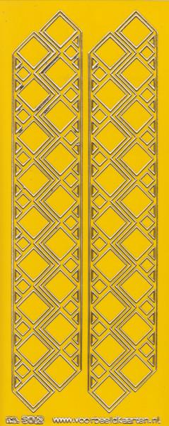 Stickervel donkergeel/goud nr. 3012 (Locatie: K167)