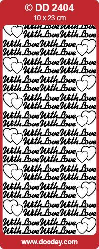Stickervel goud With Love DD2404 (Locatie: E150)
