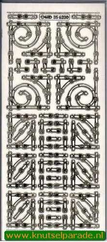 Stickervel transparant goud MD356230 (Locatie: K220)