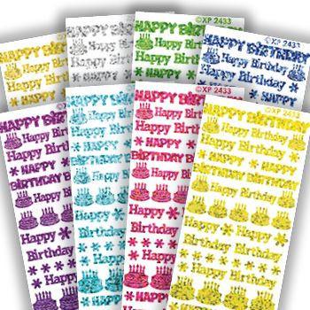 Stickervel verjaardag paars holografisch XP2433 (Locatie: c308)