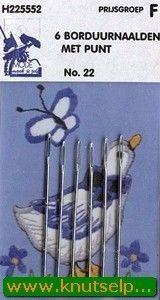 Sticknadeln spitz 6 Stücke 22 (Locatie: 5R)