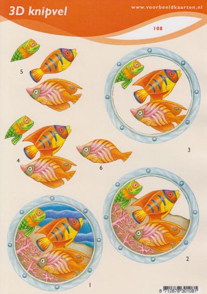 Voorbeeldkaarten knipvel A5 vissen nr.108 (Locatie: 0924)
