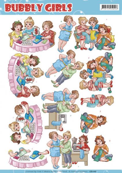Yvonne Creations knipvel bubbly girls CD11161 (Locatie: 4313)