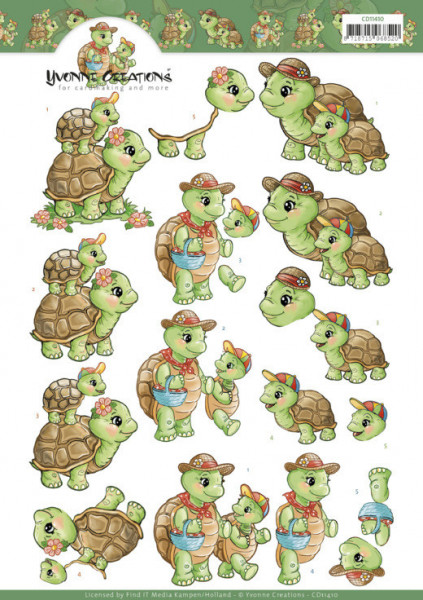 Yvonne Creations knipvel schildpad CD11410 (Locatie: 0335)