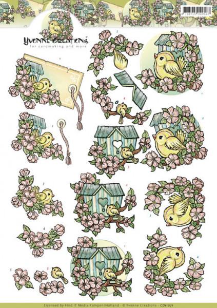 Yvonne Creations knipvel vogels CD11071 (Locatie: 1541)