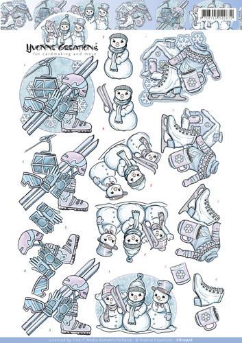 Yvonne Creations knipvel winter CD10976 (Locatie: 1175)
