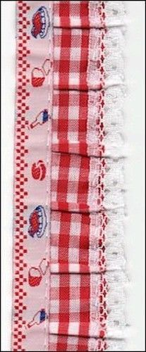 1 meter keuken rand band rood 98545/1 (Locatie: 4RR11 )
