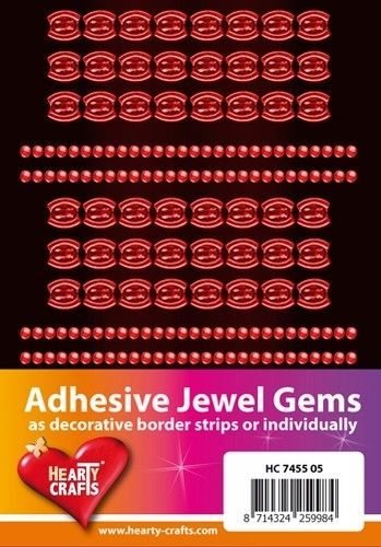 Adhesive Jewel Gems zelfklevende strips oranje HC 7455 05 (Locatie: 1F )