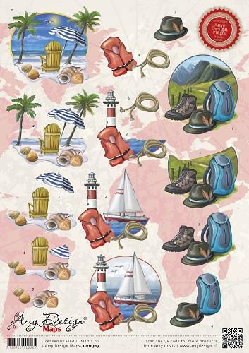 Amy Design knipvel vakantie CD10503 (Locatie: 2908)