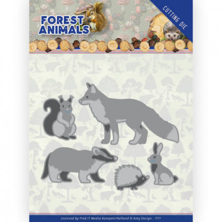 Amy Design snijmal Forest Animals - Forest Animals 1 ADD10233 (Locatie: M142)