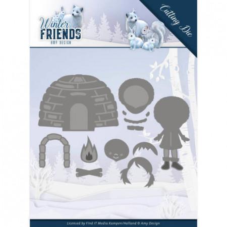 Amy Design snijmal Winter Friends - Eskimo ADD10193 (Locatie M044)
