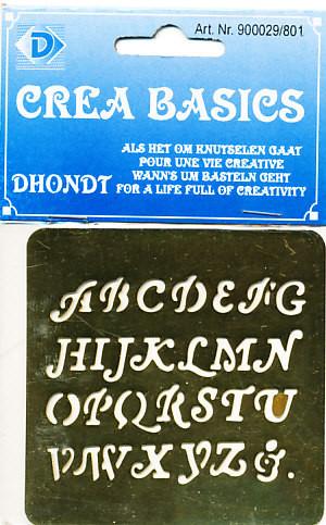 Crea Basics Embossingmal Alfabet Cursief 900029/801 (Locatie: M69)