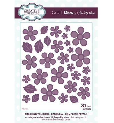 Creative Expressions snij- en embosmallen 31 stuks Camellia Complete Petals CED1421 (Locatie: M033)