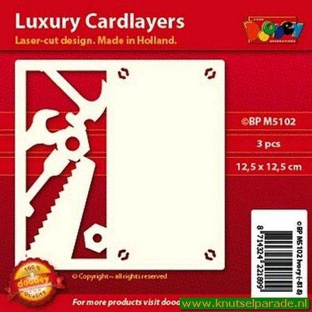 Doodey oplegkaarten gereedschap 3 stuks ivoor BPM5102 (Locatie: K130 )