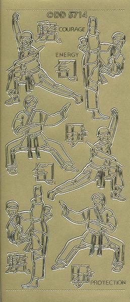 Doodey stickervel karate goud DD5714 (Locatie: u224)