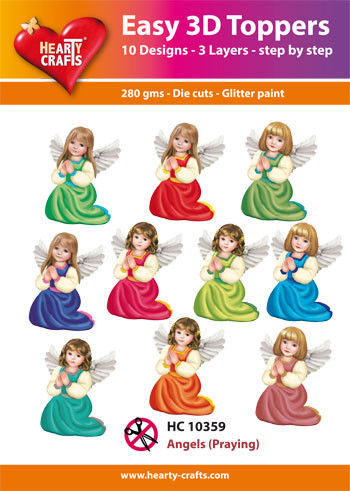 Hearty Crafts Easy 3D Toppers - Angels Praying HC10359 (Locatie: 5R)