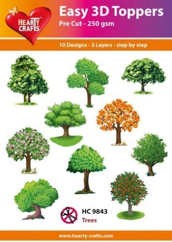 Hearty Crafts Easy 3D Toppers - Bomen HC9843 (Locatie: 5R )
