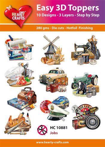 Hearty Crafts Easy 3D Toppers Jobs HC10881 (Locatie: K2)