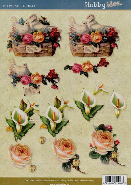 Hobby Idee knipvel bloemen HI-0041 (Locatie: 5812)